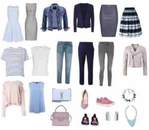 Zusammenstellung einer Garderobe