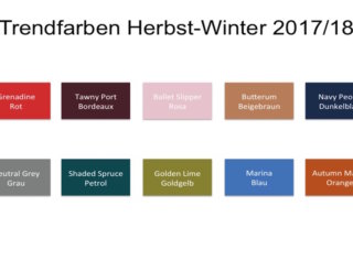 Modefarben Winter 2018