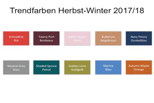 Modefarben Winter 2018