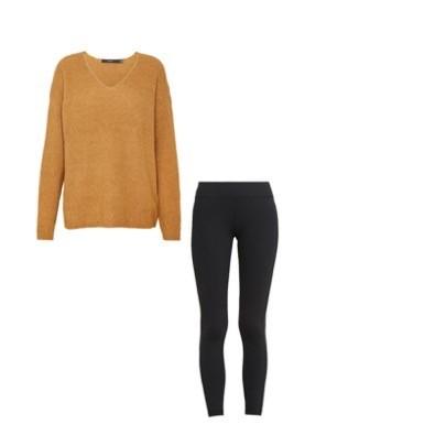 Variante 1. Leggings mit Oversize Pullover