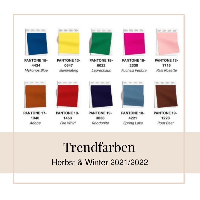 Trendfarben im Herbst und Winter 2021/2022